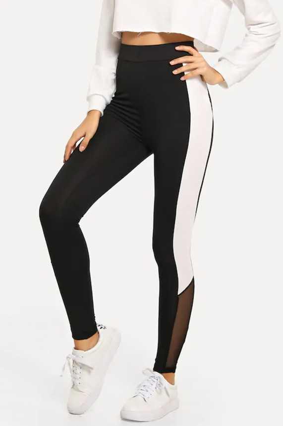 7477a9c42c7d7 Blinkin Colorblock Women Black, White Tights - Buy Blinkin Colorblock Women  Black, White Tights Online at Best Prices in India | Flipkart.com