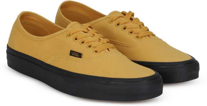0943018622 Vans Authentic Sneakers For Men - Buy (Black Sole) Mineral Yellow ...