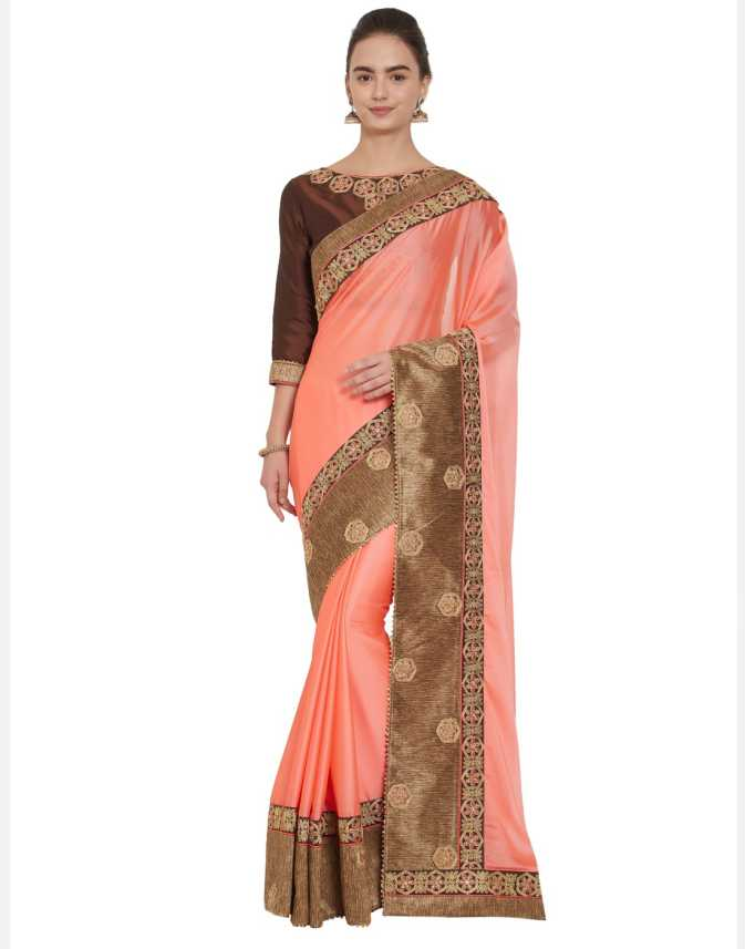 d19ac4f2f34d Buy Desi Butik Embroidered Fashion Georgette Multicolor Sarees Online    Best Price In India