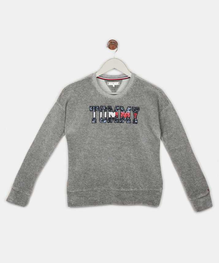 1be3f3b3e3 Tommy Hilfiger Full Sleeve Embellished Girl s Sweatshirt - Buy Tommy  Hilfiger Full Sleeve Embellished Girl s Sweatshirt Online at Best Prices in  India ...