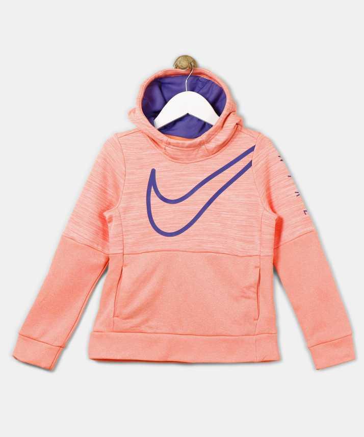 4ada80dc50de Nike Full Sleeve Solid Girls Sweatshirt - Buy G NK THERMA H Nike Full  Sleeve Solid Girls Sweatshirt Online at Best Prices in India