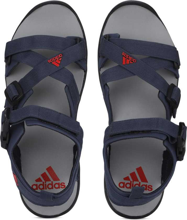 b219adfff874e7 ADIDAS Men TRABLU/SCARLE/SILVMT Sports Sandals - Buy ADIDAS Men  TRABLU/SCARLE/SILVMT Sports Sandals Online at Best Price - Shop Online for  Footwears in ...