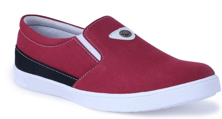CLOSHO Red Shoes Slip On Sneakers For