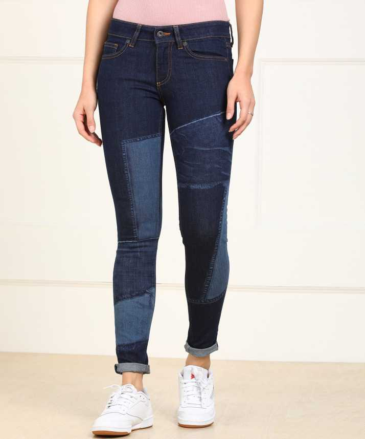 a8c659f9fcf9 Pepe Jeans Regular Women Blue Jeans - Buy Pepe Jeans Regular Women Blue  Jeans Online at Best Prices in India