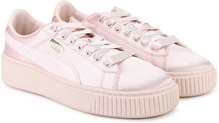 sale retailer fae58 1ca61 Puma Basket Platform Tween Jr Sneakers For Women