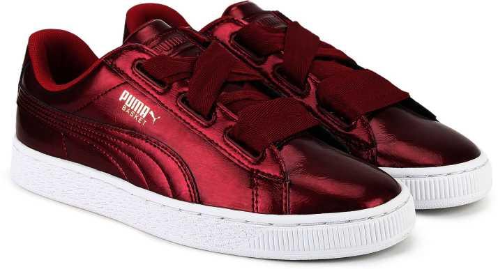 best authentic 15d57 edde8 Puma Basket Heart Glam Jr Sneakers For Women