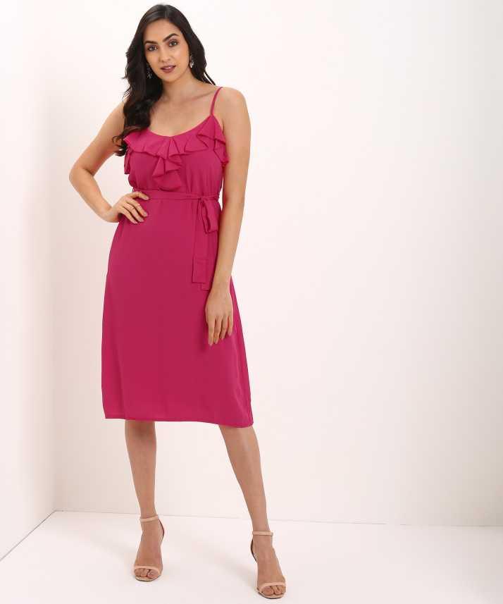 13d344e03f69e Trendyol Women Shift Pink Dress - Buy Trendyol Women Shift Pink Dress Online  at Best Prices in India | Flipkart.com