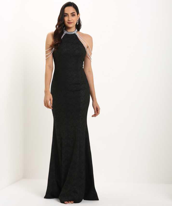 2a63f2188f0 Trendyol Women Gown Black Dress - Buy Trendyol Women Gown Black Dress Online  at Best Prices in India