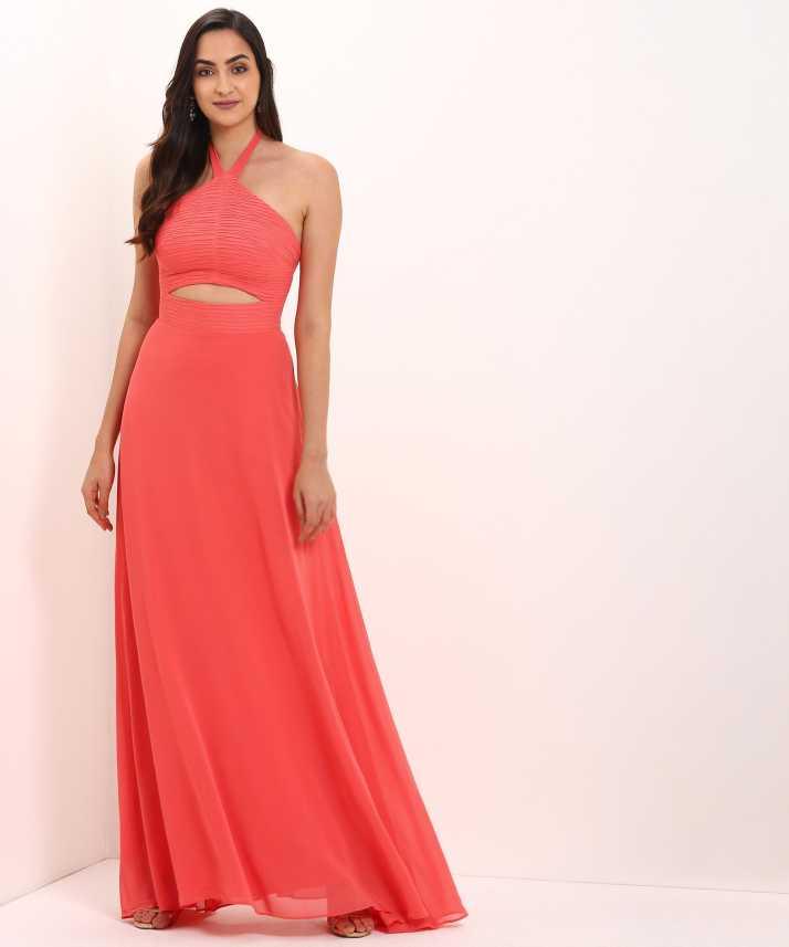 f354498666385 Trendyol Women's Gown Orange Dress - Buy Trendyol Women's Gown Orange Dress  Online at Best Prices in India | Flipkart.com