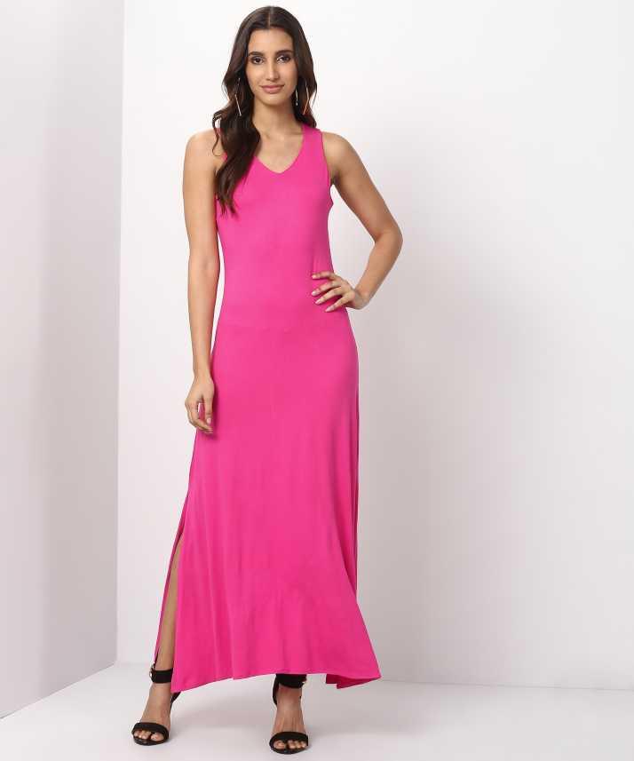 920f8df007559 Trendyol Women's Gown Pink Dress - Buy Trendyol Women's Gown Pink Dress  Online at Best Prices in India | Flipkart.com
