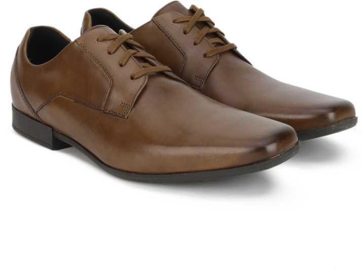 8833d6c29d9a9 Clarks Glement Lace Tan Leather Lace Up For Men - Buy Clarks Glement ...