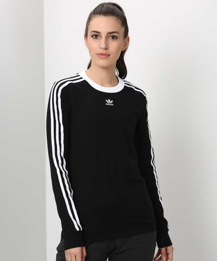 ADIDAS Full Sleeve Solid Women s Sweatshirt - Buy Black ADIDAS Full Sleeve  Solid Women s Sweatshirt Online at Best Prices in India  ad98310bfc