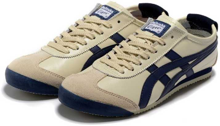 newest 62704 37bb8 Onitsuka Tiger Mexico 66 Beige Navy Casuals For Men - Buy ...