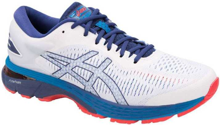 Subvención damnificados Retrato  Asics GEL - KAYANO 25 - WHITE/BLUE PRINT Running Shoes For Men - Buy Asics  GEL - KAYANO 25 - WHITE/BLUE PRINT Running Shoes For Men Online at Best  Price - Shop