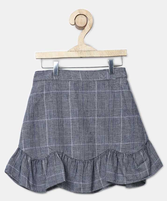 5239d5679e MARKS & SPENCER Checkered Girls Regular Grey Skirt - Buy MARKS ...