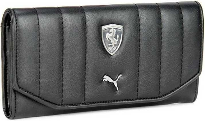 Puma Women Black Canvas Wallet BLACK - Price in India  18a7cdd83