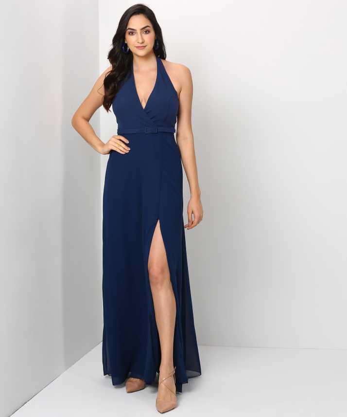 c5e864e1e7151 Trendyol Women Gown Dark Blue Dress - Buy Trendyol Women Gown Dark ...