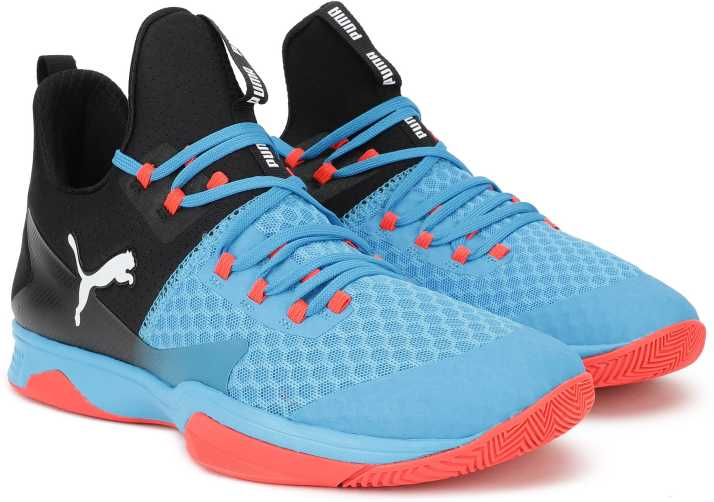 0c2503e38c2389 Puma Rise XT 3 Bleu AzurRed Blast Basketball Shoe For Men - Buy Puma Rise XT  3 Bleu AzurRed Blast Basketball Shoe For Men Online at Best Price - Shop  Online ...