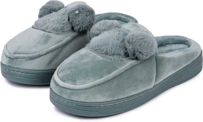 a952bb53b Brauch Olive Green Mickey Fur Slippers - Buy Brauch Olive Green Mickey Fur Slippers  Online at Best Price - Shop Online for Footwears in India