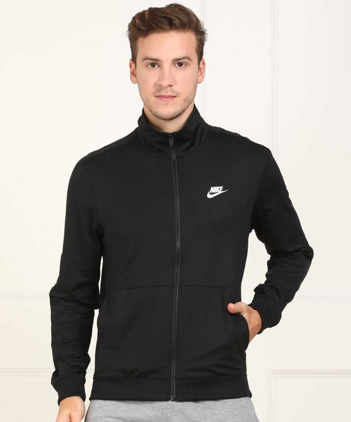 3c60ab51afb7 Nike Full Sleeve Self Design Men s Jacket - Buy Nike Full Sleeve Self  Design Men s Jacket Online at Best Prices in India