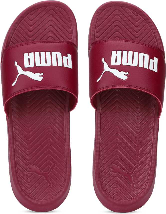b290bb0c96300 Puma Popcat Pomegranate-Puma White Slides - Buy Puma Popcat Pomegranate-Puma  White Slides Online at Best Price - Shop Online for Footwears in India ...