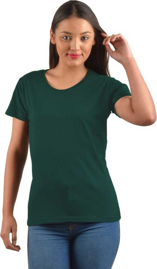 5ee934085a4 PrintOctopus Solid Women s Round Neck Green T-Shirt - Buy PrintOctopus  Solid Women s Round Neck Green T-Shirt Online at Best Prices in India