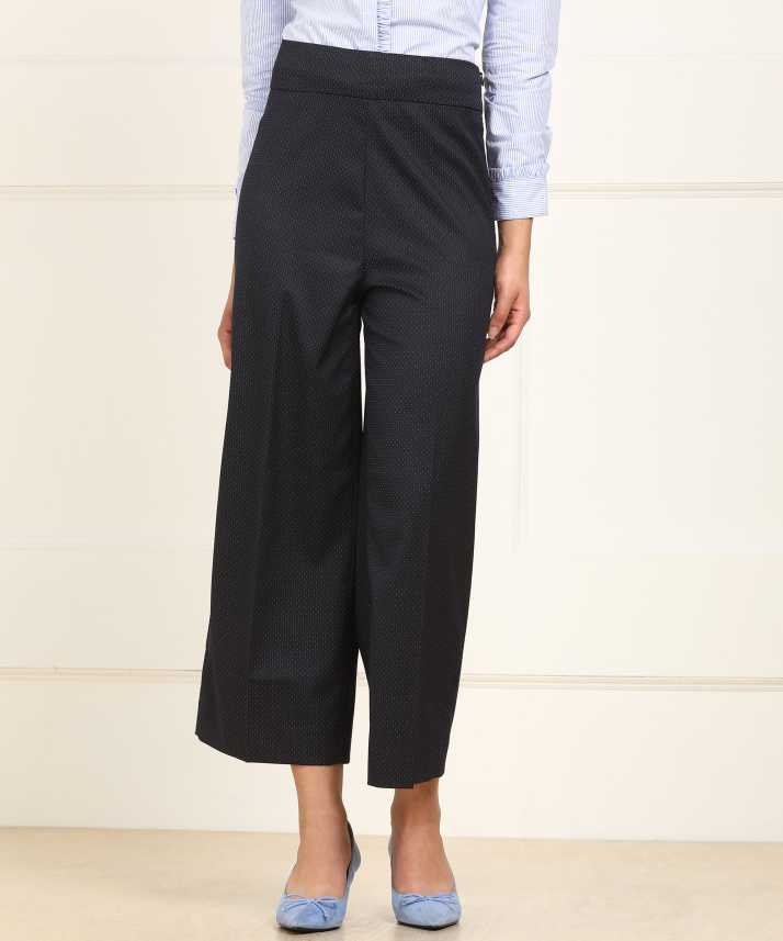 Van Heusen Relaxed Women Black Trousers - Buy Van Heusen Relaxed Women  Black Trousers Online at Best Prices in India  984b34a3d