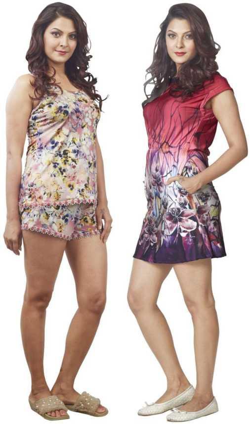 2eccbef52d IMJI Nightwear Women Nighty - Buy IMJI Nightwear Women Nighty Online ...
