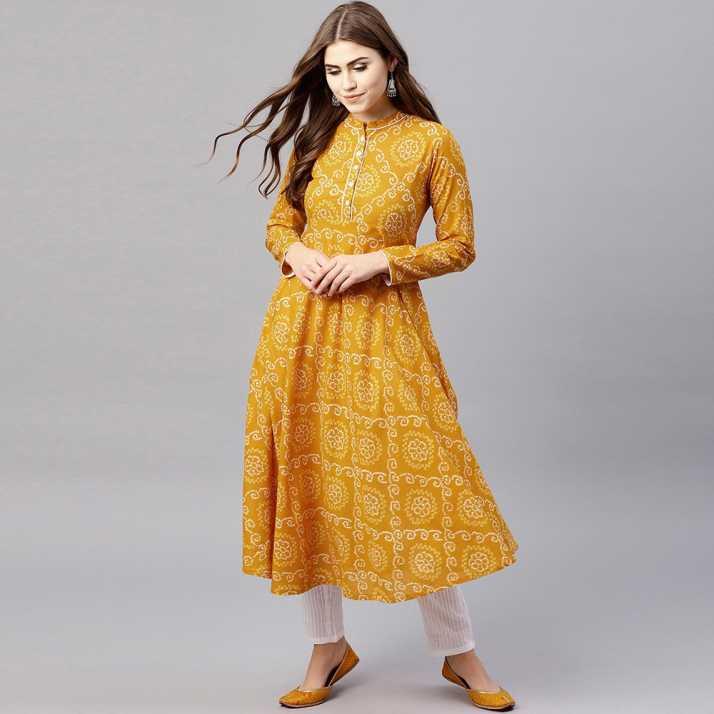 0a79a4e77 Aks Women Printed Anarkali Kurta - Buy Aks Women Printed Anarkali Kurta  Online at Best Prices in India
