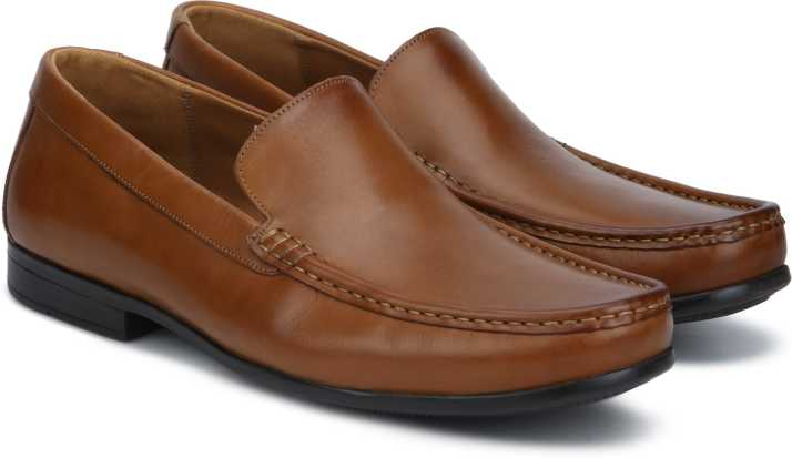 Clarks Claude Plain Tan Leather Slip On For Men Buy Clarks