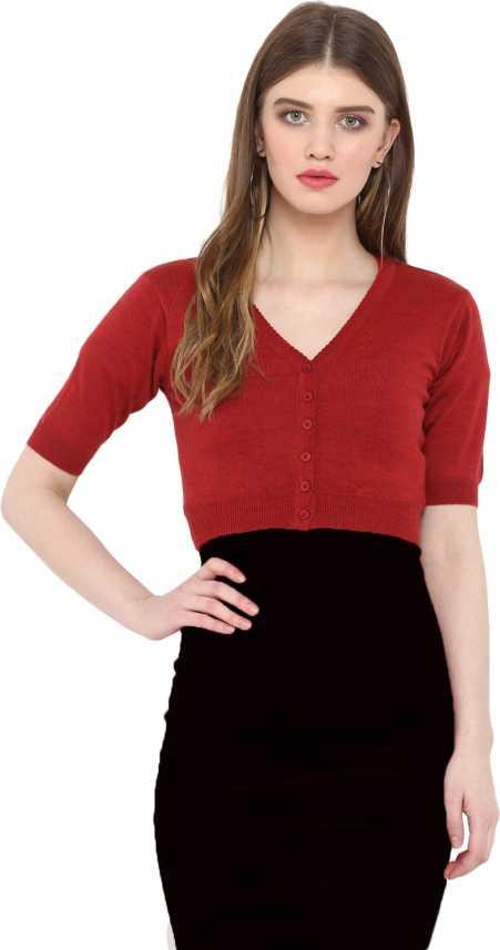 a2c6b0c54 Monte Carlo Solid High Neck Casual Women Red Sweater - Buy Monte Carlo  Solid High Neck Casual Women Red Sweater Online at Best Prices in India |  Flipkart. ...