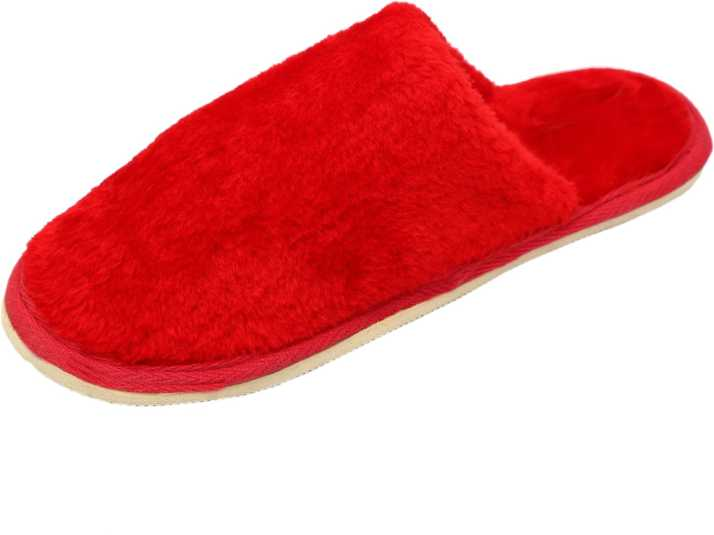 925edd9f9a20 Digchika Anti-slip Soft Bottom Wool Slip-On Indoor   Outdoor Winter Slippers  Warm Winter