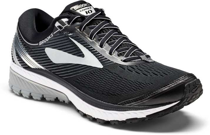 a4291d5e3f9 Brooks Ghost 10 Synthetic Black Running Shoes Running Shoes For Men (Black)