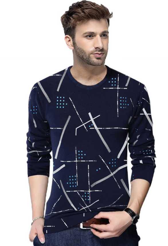 d09cba1c07 Tripr Printed Men Round Neck Dark Blue T-Shirt - Buy Tripr Printed Men  Round Neck Dark Blue T-Shirt Online at Best Prices in India | Flipkart.com