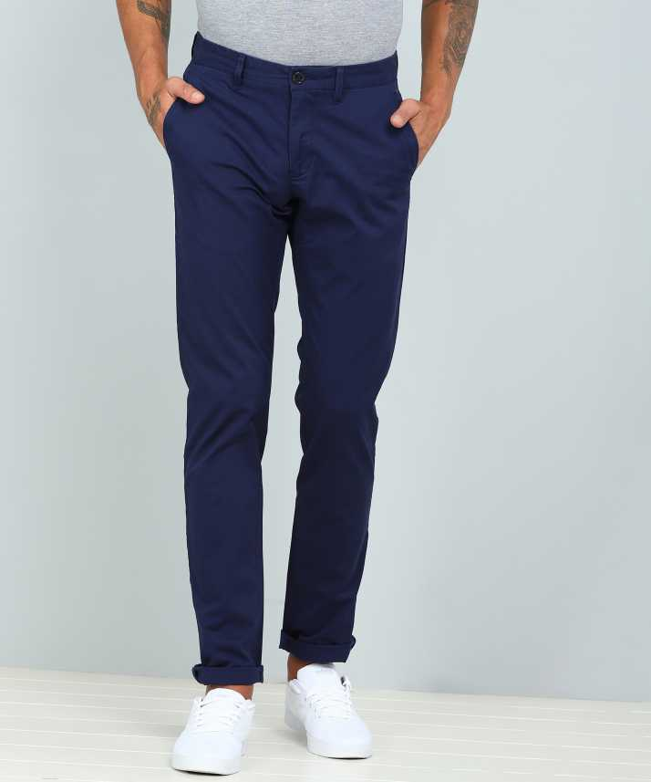 8863ddbb LP Louis Philippe Slim Fit Men Blue Trousers - Buy LP Louis Philippe Slim  Fit Men Blue Trousers Online at Best Prices in India | Flipkart.com