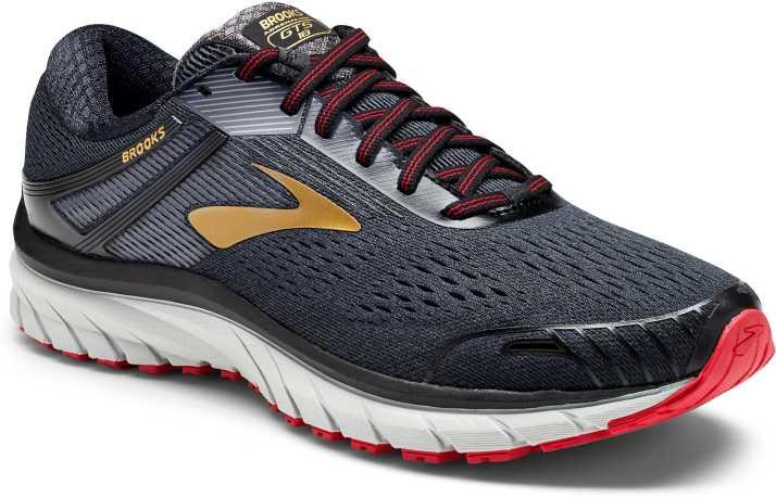 17e25b841ef Brooks Adrenaline GTS 18 Synthetic Black Running Shoes For Men - Buy Brooks  Adrenaline GTS 18 Synthetic Black Running Shoes For Men Online at Best  Price ...