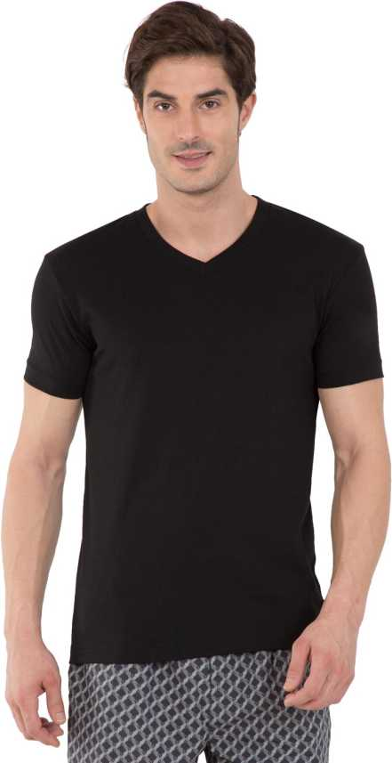 Jockey Solid Men V Neck Black T Shirt Buy Black Jockey Solid Men V Neck Black T Shirt Online At Best Prices In India Flipkart Com