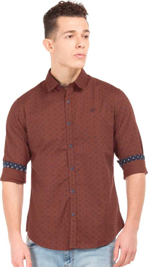1fba902aa63 Ed Hardy Men Printed Casual Brown Shirt - Buy Ed Hardy Men Printed Casual  Brown Shirt Online at Best Prices in India