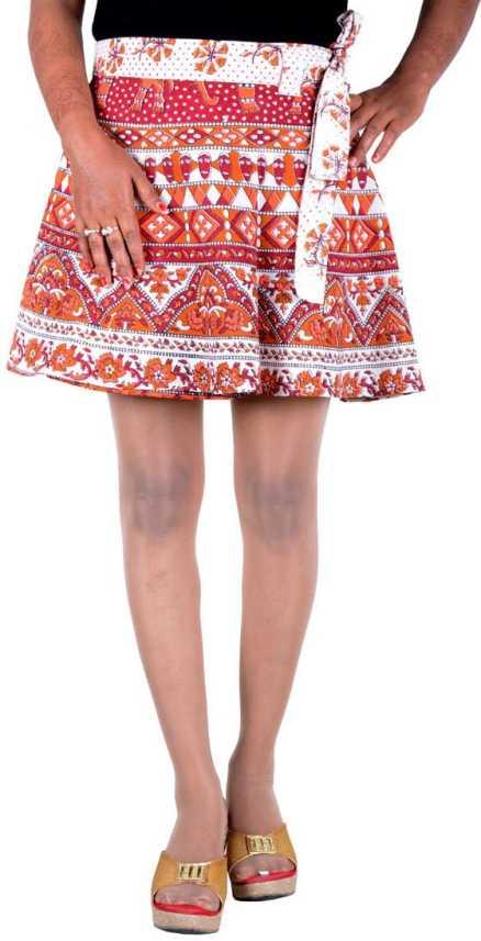 f234e2a5da Rajvila Animal Print Women Wrap Around Multicolor Skirt - Buy ...
