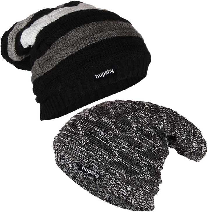 9cc9790e6aa Hupshy Winter Beanie Cap - Buy Hupshy Winter Beanie Cap Online at ...