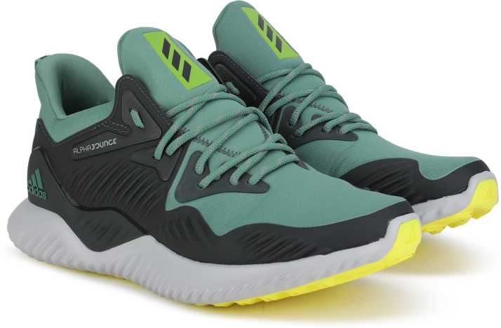 official photos f08fb 18d82 ADIDAS ALPHABOUNCE BEYOND M Running Shoe For Men (Black, Green)