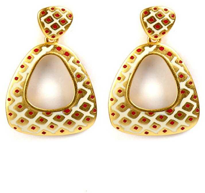 86e6df255 Flipkart.com - Buy Bauble Burst Golden Spoon Earrings Alloy Drop Earring  Online at Best Prices in India