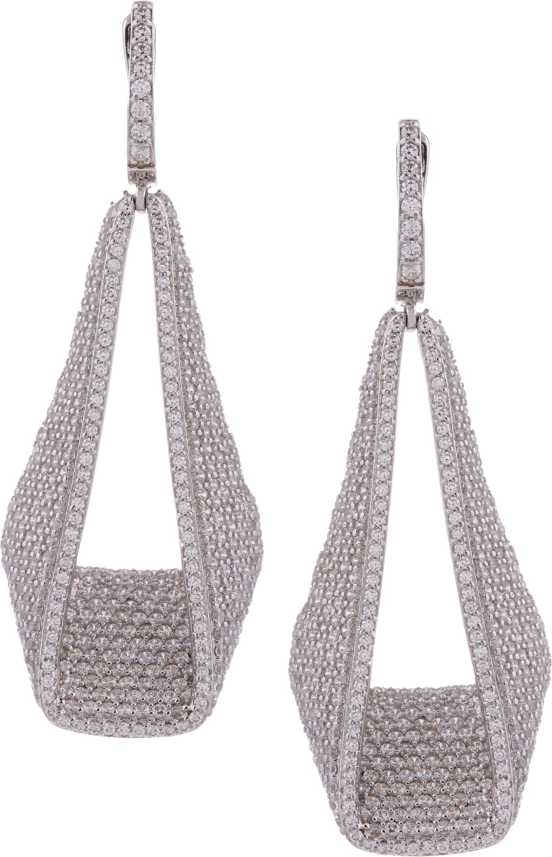db06b230d99a Flipkart.com - Buy Manoj Diamond Studded Fashion 925 Silver Cubic Zirconia  Silver Dangle Earring Online at Best Prices in India