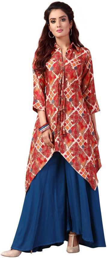 5835e9e2eaa25 Madhuram textiles Women Printed Anarkali Kurta - Buy Madhuram ...