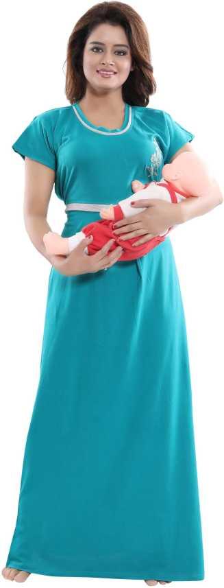 e6e119e4915 Fabme Women Maternity Nursing Nighty - Buy Fabme Women Maternity Nursing  Nighty Online at Best Prices in India