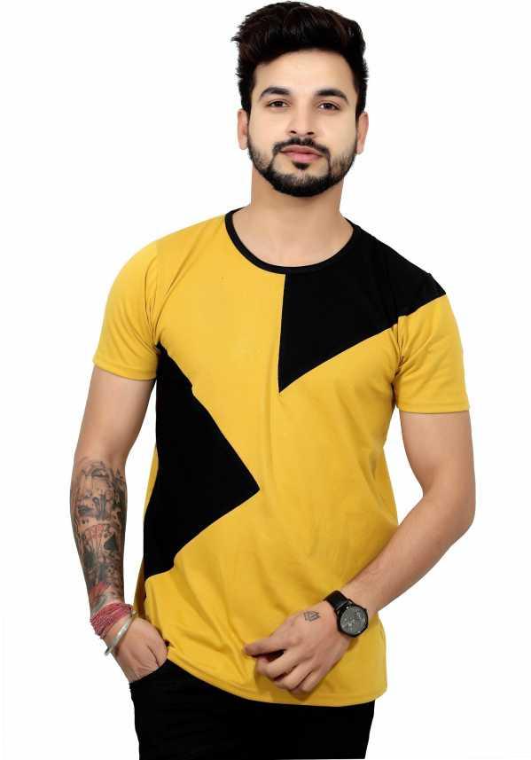6ceaf7151261 EG Color block Men Round Neck Yellow T-Shirt - Buy EG Color block Men Round  Neck Yellow T-Shirt Online at Best Prices in India | Flipkart.com