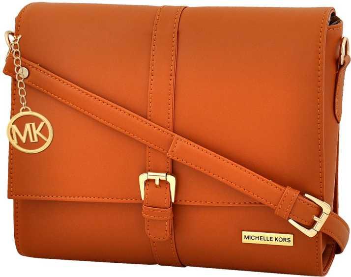 e8fa52769a95 Buy MK Sling Bag Tan Online @ Best Price in India   Flipkart.com