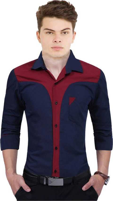 192d1f515a1 Qlonz store Men Solid Casual Blue