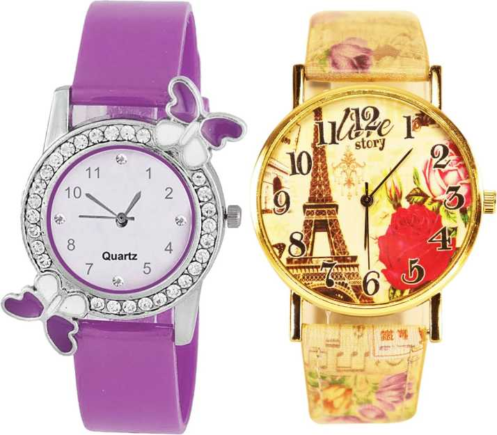 0fa1a8f0aa NEUTRON Best Gift Butterfly And Paris Eiffel Tower Analogue Purple ...
