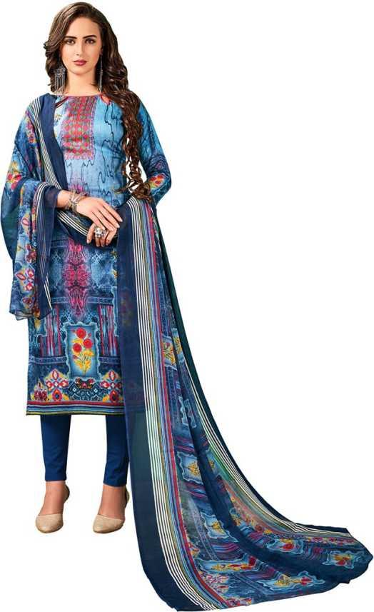 b75799c8ce V SALES Cotton Printed Salwar Suit Dupatta Material Price in India ...